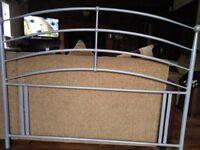 silver double headboard