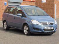 2008/08 Vauxhall Zafira 1.6, 10 months mot, service history, 2 keys, HPI Clear, only 94000, 7 seater