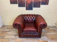 Savvy Deep Leather Chesterfield Armchair