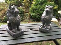 Lions (Stone) Ideal for Garden or by Front Door