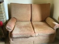 small two seater settee and armchair