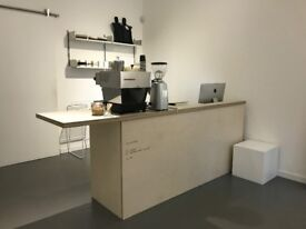 Sales Desk / Coffee Bar / Counter - Bespoke built in Birch Ply. Ideal for retail / cafe / restaurant
