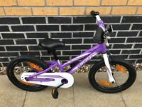 """Purple 16"""" Hotrock Specialized Girls Bicycle (including removable stabilisers)"""
