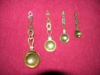Set Of 4 Brass Kitchen Measuring Spoons Round Heads Weymouth