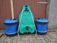 2 royal aquarius 40ltr fresh water containers and 1 royal waste water container