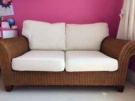 Next Wicker sofa