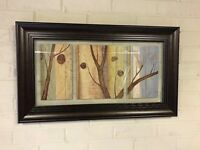 Dark framed contemporary wall art picture / painting / print - Bargain!