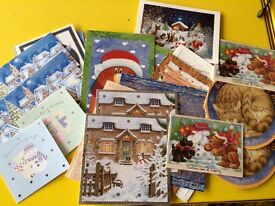 Assorted Christmas cards with envelopes