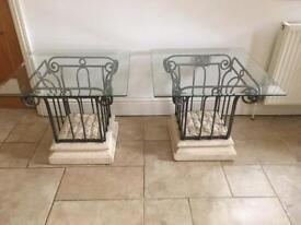 Greek style side tables