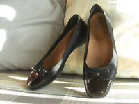 Clarkes Flat Black Shoes