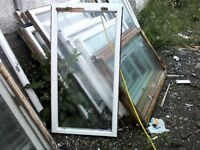 Wooden window frames with glass. Second hand varios sizes