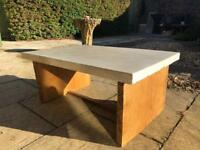 Solid Concrete table. Indoor use.