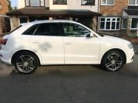 Audi q3 2.o TDI s_line 5 door white manual suv