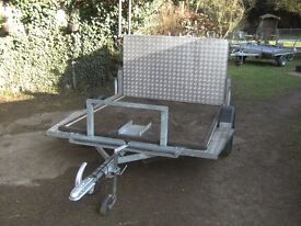FULLY GALVANISED 6X5 MOBILITY SCOOTER X2 TRANSPORTER CAR TRAILER WITH FULL RAMPTAIL..