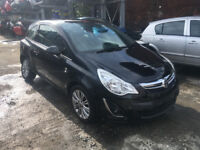 BREAKING - VAUXHALL CORSA D - FACELIFT FRONT BUMPER - BLACK - ALL PARTS AVAILABLE