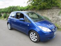 MITSUBISHI COLT 1.1 BLUE 3 DOOR 2007 ONLY 52K MILES FULL HISTORY LONG MOT