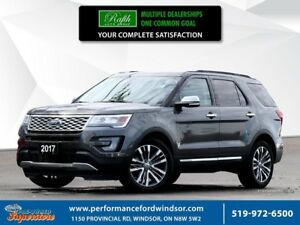 2017 Ford Explorer PLATINUM ***NAV, 20's, moonroof***