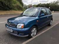Nissan Micra 1.0 16v Tempest Hatchback 3dr. LONG MOT APRIL 2019. Service History, Good runner