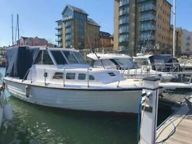10m motor cruiser completely refurbished just needs interior fit