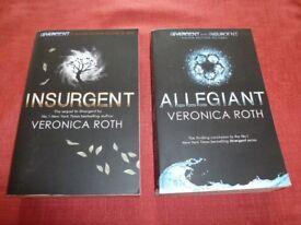 Veronica Roth, Insurgent and Allegiant paperback books