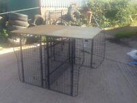 Custom made Barjo VW Transporter T5 3 dog cage