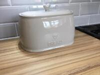Dunhelm porcelain bread bin small chip (easily repaired)