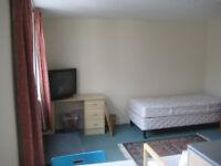 CATHEDRAL ROAD Fully furnished top floor studio flat/fflat stiwdio llawr top wedi ei dodrefnu