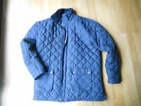 Mens Navy Padded Coat Size XL zip and stud fastening