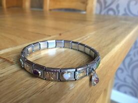 NOMINATION CHARM BRACELET AND CHARMS - NEARLY NEW