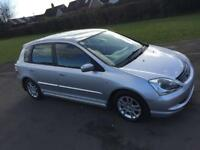 05 HONDA CIVIC 1.7 DIESEL CTDI HATCHBACK*LOW INS GROUP 6E!MINT!BARGAIN!focus,astra,corsa,vw