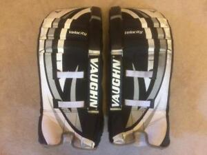 "Vaughn Velocity Ball or Street Hockey Goalie Pads 24"" - youth to Teen"