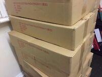 JOB LOT 40 USED SINGLE WALL CARDBOARD BOXES