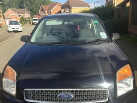 Ford Fusion Zetec, petrol, low milage, 55 plate, air conditioning, new rear tyres and front brakes
