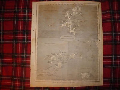 1805 ANTIQUE SHETLAND SCILLY JERSEY ISLANDS ENGLAND MAP image