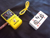 Guitar Looper Pedal, Footswitch and Cable