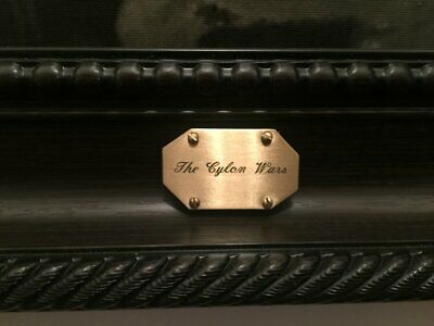 *NEW ARRIVAL* Battlestar Galactica THE CYLON WARS Brass Display Plaque Replica