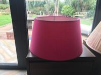 Large lampshade in bright pink