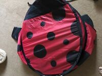 Pop up ladybird tent