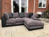 BLACK AND GREY CORNER SOFA! 1 YEAR OLD! DELIVERY AVAILABLE!