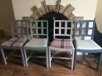Shabby ship pastel painted chairs
