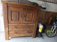Antique Solid Wood cabinet and drawers
