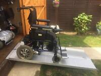 FOLDING POWERCHAIR WHEELCHAIR MOBILITY SCOOTER - BRAND NEW BATTERIES TODAY 21 stone user - 20 miles
