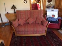 Ercol 2 seater renaissance sofa's x two with cushions Immaculate Condition