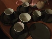 Vintage/Retro Encore Gaydon Racing Green Mugs, Saucers, Plates. Must for VW camper enthusiasts.