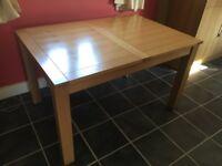Light Oak/Beech Dining Table