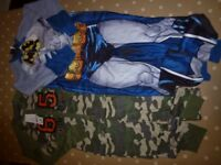Boys batman and army onezie age 10-11 new