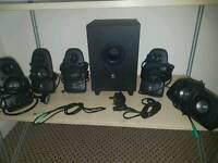 Sub and speaker set