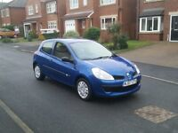 07 REG RENAULT CLIO 1.5 DCI EXPRESSION BLUE 3DR 2-KEYS FSH MOT-18 VERY CHEAP FREE-DELIVERY @BARGAIN
