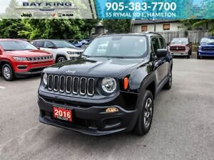 2016 Jeep Renegade SPORT, 4X4, BLUETOOTH, BACKUP CAMERA