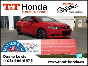 2013 Honda Civic Si *One Owner, Heated Seats, Rear Camera*